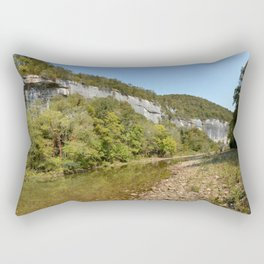 On the Buffalo River at Roark Bluff, No. 3 Rectangular Pillow