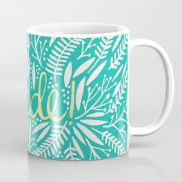 Pardon My French – Gold on Turquoise Coffee Mug