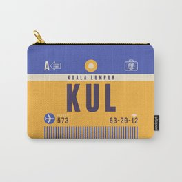Retro Airline Luggage Tag - KUL Kuala Lumpur Malaysia Carry-All Pouch