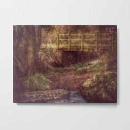 DOWN BY THE BRIDGE Metal Print