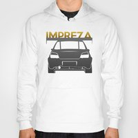 subaru Hoodies featuring Subaru Impreza by Vehicle