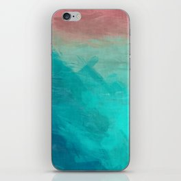 Sunset Over Lagoon Abstract Painting iPhone Skin