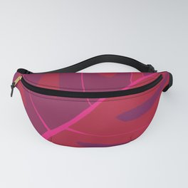 Only One Monstera Leaf in Red And Purple Colors #decor #society6 #buyart Fanny Pack