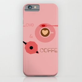 Love & Coffee iPhone Case