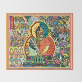 Life of Buddha - 7. Enlightenment and teaching  Throw Blanket