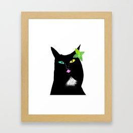 Kissy Cat Framed Art Print
