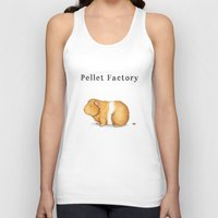 guinea pig Tank Tops featuring Pellet Factory - Guinea Pig Poop by When Guinea Pigs Fly
