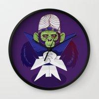 jojo Wall Clocks featuring Mojo Jojo by Hailstorm Tee