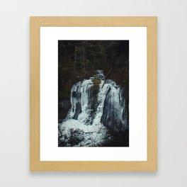 Upper McCord Creek Falls Framed Art Print