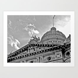 Court House B & W Art Print