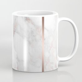 Luxury Rose-gold Faux Marble Coffee Mug