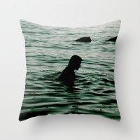 siren Throw Pillows featuring SIREN by Taryn Jayne