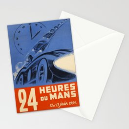 1954 Le Mans poster, Race poster, car poster, Stationery Cards