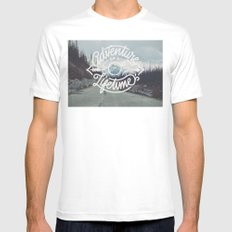 Adventure of a lifetime Mens Fitted Tee White MEDIUM