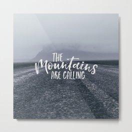 To the Mountain Metal Print