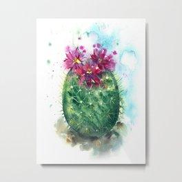 Cactus Egg Metal Print