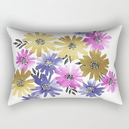 Flower Cluster Rectangular Pillow