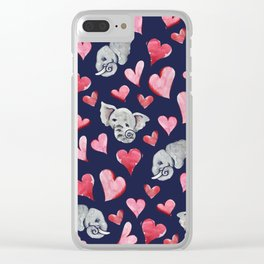 Elephant lover Clear iPhone Case
