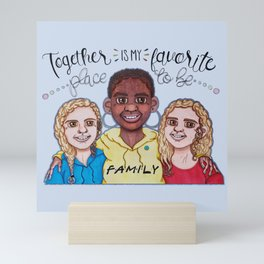 Together for Safia Mini Art Print