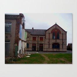 broken housing Canvas Print