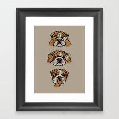 Noevil English Bulldog Framed Art Print