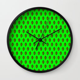 Hops Lime Pattern Wall Clock