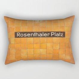 Berlin U-Bahn Memories - Rosenthaler Platz Rectangular Pillow