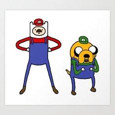 Super Adventure World Art Print