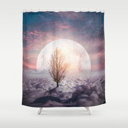 Hypnotized by the Moon Shower Curtain