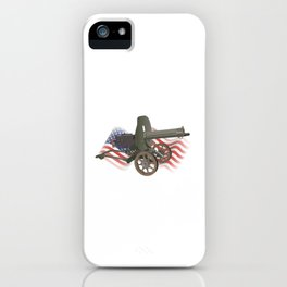 Maxim Gun with US Flag iPhone Case