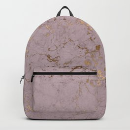 rose gold marble print Backpack