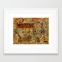outdoor Framed Art Prints featuring Outdoor Adventures by CreativelyHappy