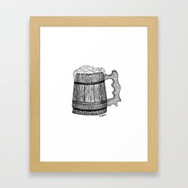 beer mug Framed Art Print