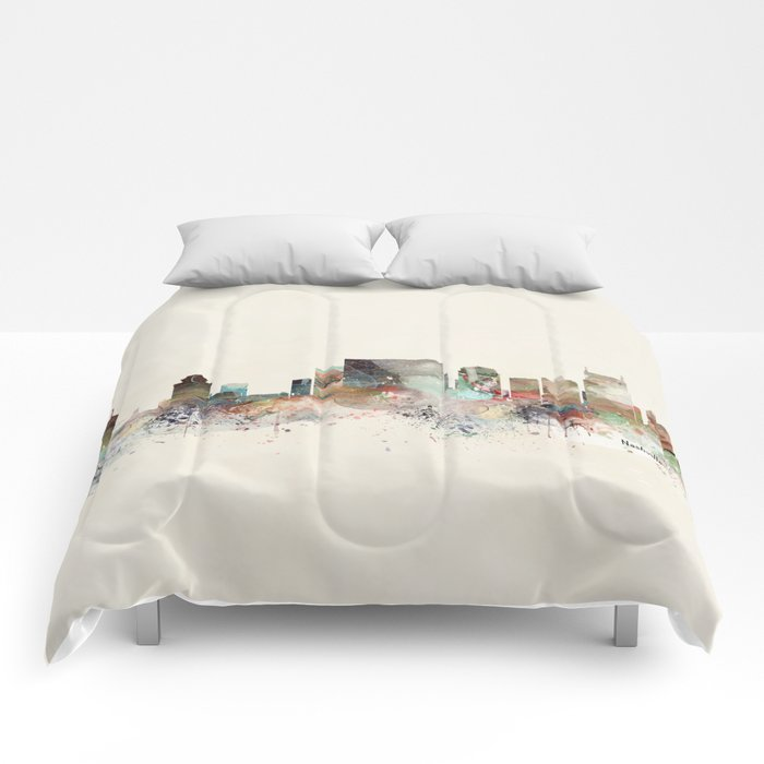nashville city skyline Comforters