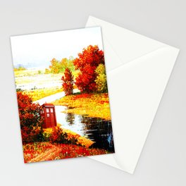 Tardis Lost At The River Stationery Cards