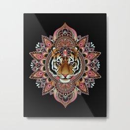 Tiger Mandala Metal Print