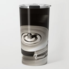 Music From a Vintage 45 RPM Record Playing on a Turntable 5 Travel Mug