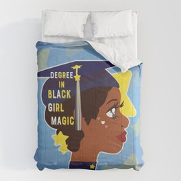 Degree in Black Girl Magic Comforters
