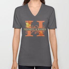Thanksgiving H Monogram Unisex V-Neck