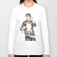 coconutwishes Long Sleeve T-shirts featuring Liam Floral by Coconut Wishes