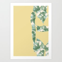 Back to Nature (NZ Ferns) Art Print