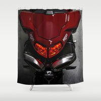 ducati Shower Curtains featuring Ducati 1198 SP by Elias Silva Photography