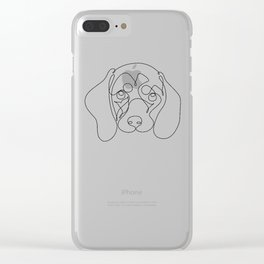 One Line Dachshund Clear iPhone Case