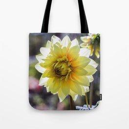 Dahlia In The Garden / 30 Tote Bag