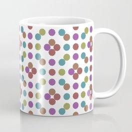Multicoloed Circles Pattern Coffee Mug