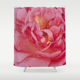 One coral beauty Shower Curtain