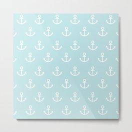 Anchor Love Hope Blue White Metal Print