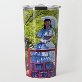Belle On Red Bridge Travel Mug