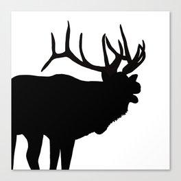 Elk Bugling Silhouette Canvas Print