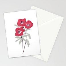 Clarkia Red Flower Stationery Cards